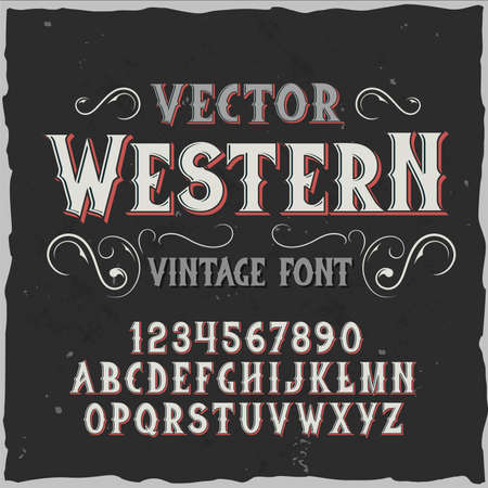 Original label typeface named Western. Good handcrafted font for any label design.