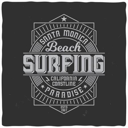 Vintage label design with lettering composition on dark background. T-shirt design. Ilustracja