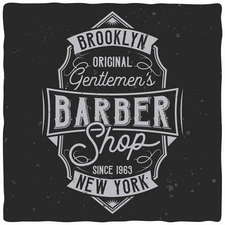 Vintage label design with lettering composition on dark background. T-shirt design. Ilustrace