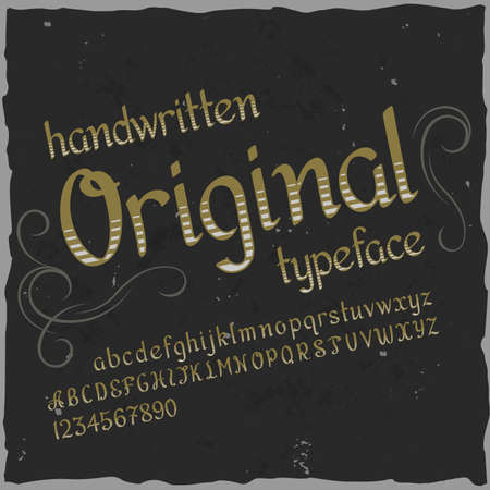 Original label typeface named Original. Good handcrafted font for any label design.