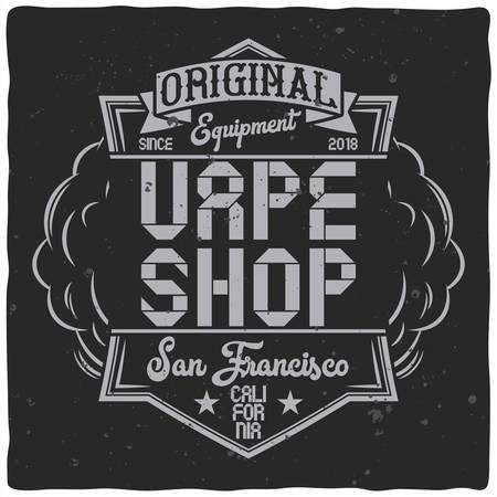 Vintage label design with lettering composition on dark background. T-shirt design. Vectores