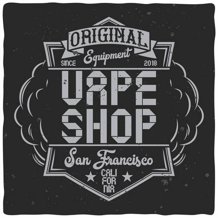 Vintage label design with lettering composition on dark background. T-shirt design. Иллюстрация