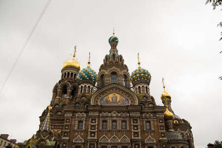 Saint petersburg russia orthodox church spas krovi church of the savior on spilled blood