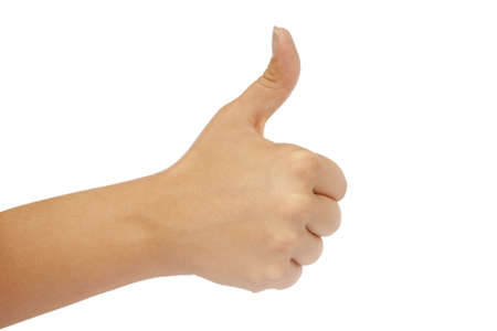approbation: image of the hand gesture all is well isolate on a white background