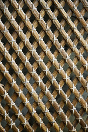 image of a bamboo grid photo