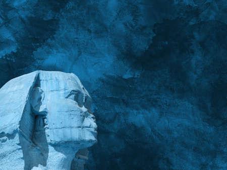 Head Sphinx egyptian background