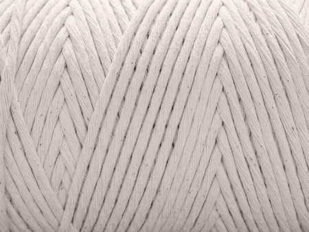 Cotton cord for macrame. Skein closeup. White background