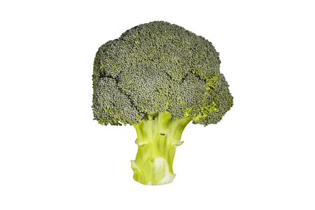 Broccoli isolated on a white background. Fresh broccoli close-up. Green asparagus for cooking healthy food. Stockfoto