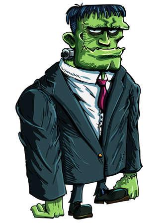 awkward: Moster de Frankenstein de dibujos animados como un jefe. Es un traje