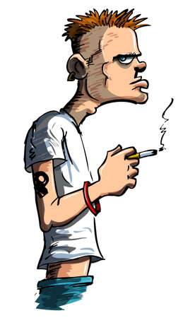 Teenager with a cigarette and a bad attitude photo