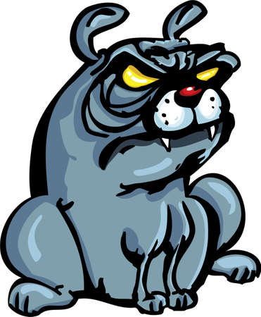 wrinkly: Cartoon Bulldog isoated on white Illustration