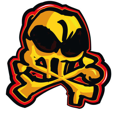 Cartoon skull design. Isolated on white Vector