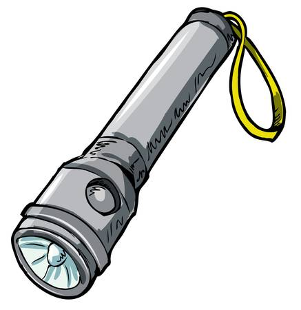 flashlight: Illustration of a flashlight. Isolated on white Illustration