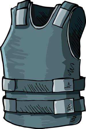 Ilustración del chaleco a prueba de balas. Aislado en blanco