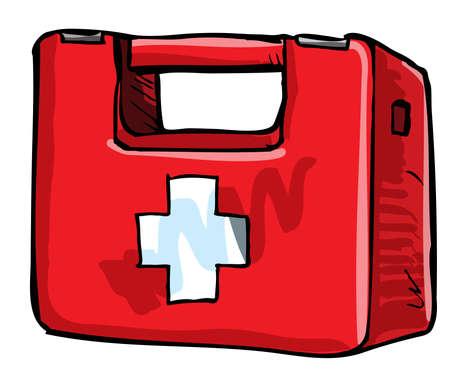 botiquin de primeros auxilios: Ilustración de médico de equipo. Aislado en blanco Vectores