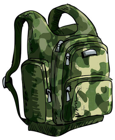 Illustration of a backpack. Isolated one white Stock Vector - 11387272