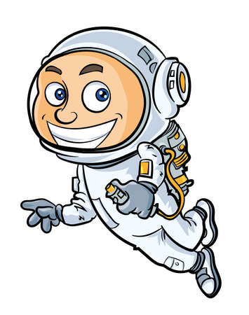 Cartoon cute astronaut. Isolated Vector