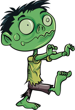Cartoon cute zombie. Isolated