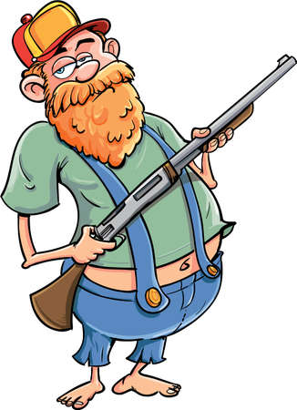 Cartoon hillbilly with a rifle