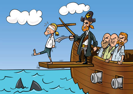 Walk the plank cartoon