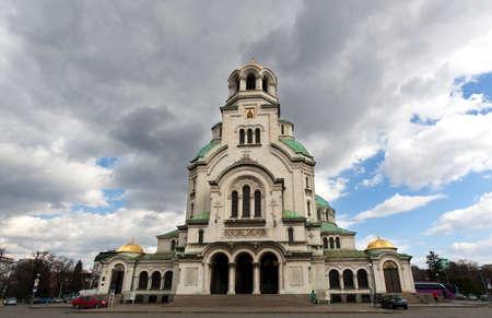 nevsky: Alexander Nevsky Cathedral in capital city Sofia in Bulgaria.