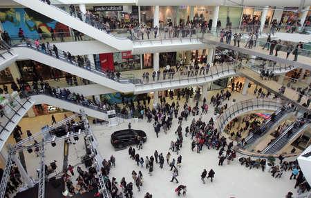 People in Shopping Mall in Sofia, Bulgaria