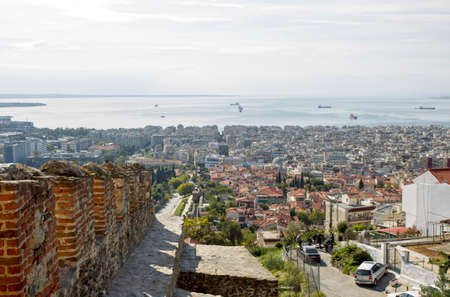 General view of Thessaloniki town from Trigonon tower.