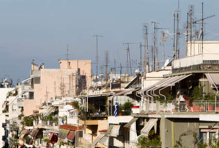 aereal: View of apartment houses in Thessaloniki city, Greece.