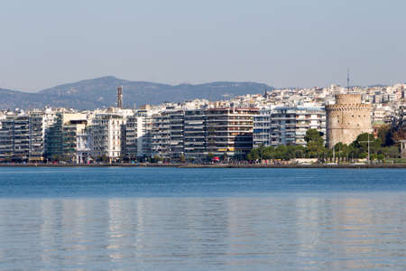 thessaloniki: General view of Thessaloniki and White Tower.