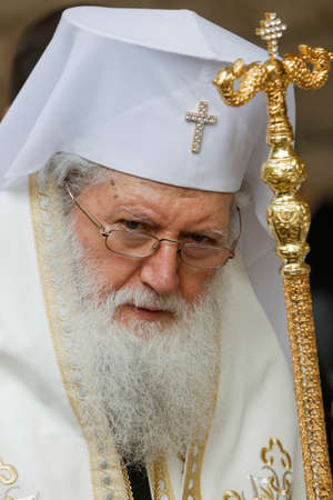 ethnics: SOFIA, BULGARIA - JUNE 18: The Bulgarian patriarch Neophyte during mass on June 18, 2016 in Sofia, Bulgaria.