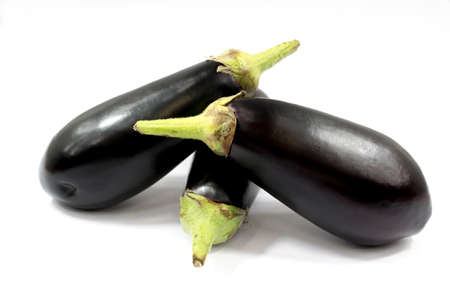 茄子や茄子白い背景の野菜