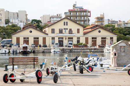 GREECE, ALEXANDROUPOLIS - JULY 27, 2018: The fishing port of the town. Archivio Fotografico - 108977291