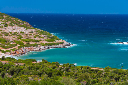 cree: Green bay near Agia Pelagia, Cree, Greece Stock Photo