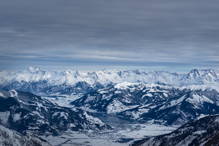 kaprun: Alps panorama from Kaprun. Austria.