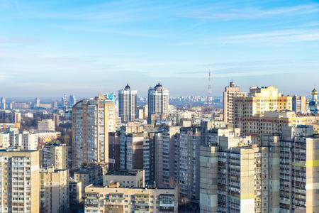 quarters: A panorama of sleeping quarters of Kiev, Ukraine.