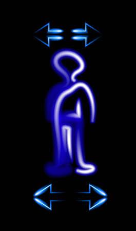 solve: human body neon