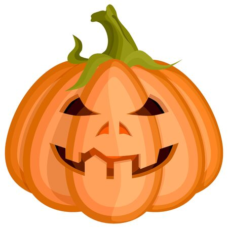 evil cunning smiling redhead pumpkin for halloween