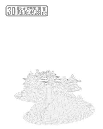 Light polygonal mountains vector illustration