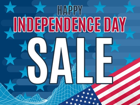 Holiday sale in the store on the day of independence of America. Stock image vector