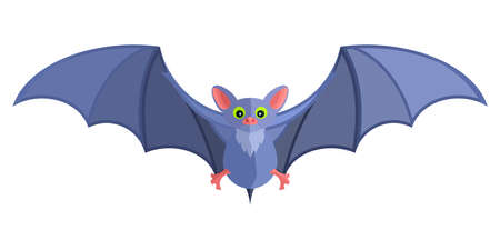 blue cartoon bat bright flat mystical fairy Standard-Bild - 114983453