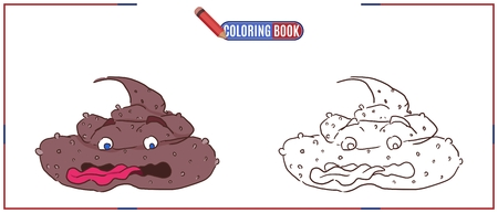 drawing for coloring brown turd with tongue pink