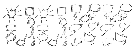 message dialogs simple doodles for illustrations