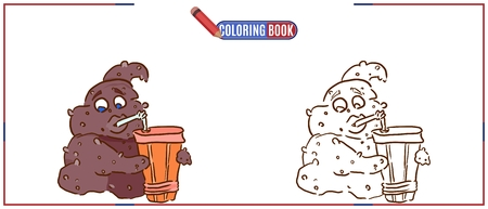 funny colorful poop character decorating for children