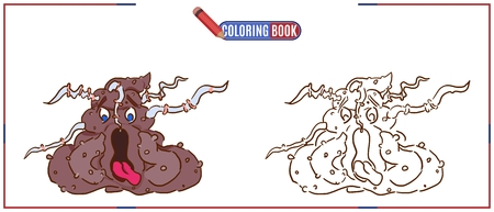 picture for coloring with a monster poop sore