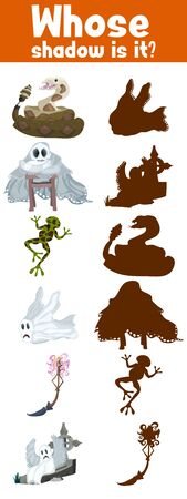 game where whose shadow monsters halloween holiday for children
