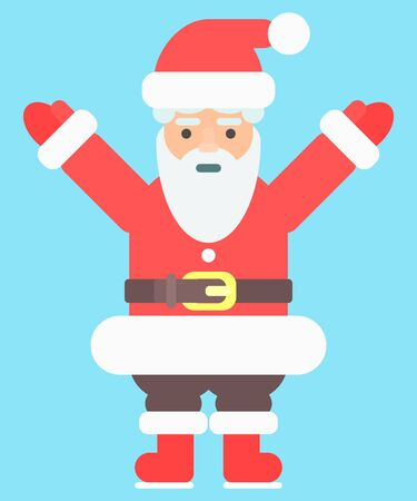 Happy Santa Claus. bright illustration flat style. vector image
