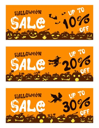 Posters with pumpkins for sale on Halloween. small discounts