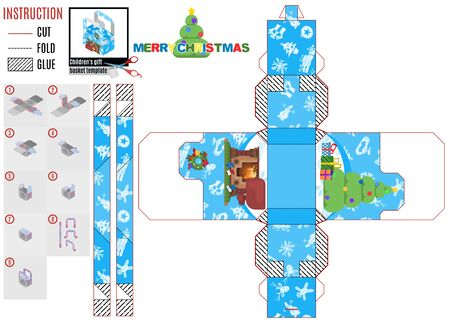 home christmas comfort. baby box template.vector