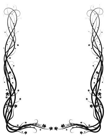 plexus of ivy stems beautiful pattern on a white background. vector Illusztráció