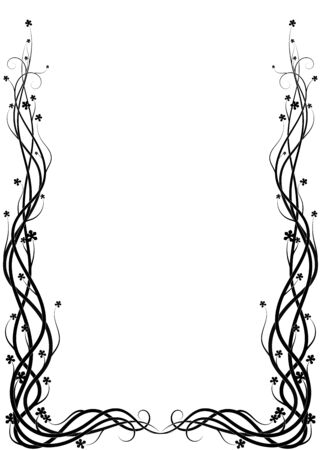 weaving ivy plant on a white background. vector Illusztráció